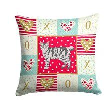 """Caroline's Treasures Cat Love Fabric Decorative Pillow patio-furniture-pillo."