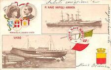 9663) CASTELLAMARE DI STABIA (NAPOLI) 1905 VARO DELLA R. NAVE NAPOLI VG NEL 1905