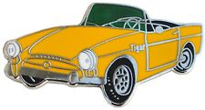 Sunbeam TIGER car cut out lapel pin - Yellow