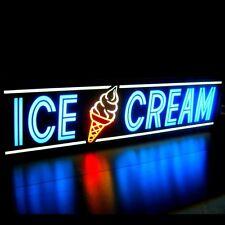 Ice Cream Cone Led Sign Sundae Shop Parlor Quality Light Box Neon Alternative