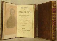 FOY Général Discours 2 volumes 1826 Moutardier BEL EXEMPLAIRE Relié