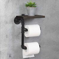 Industrial Tissue Roll Rack Toilet Paper Holder Bathroom Washroom Metal Pipe