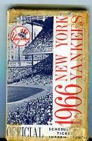 1966 New York Yankees Schedule and Ticket Information Ballantine Beer jhc