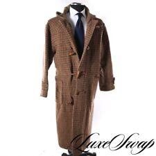INSANE Vintage Polo Ralph Lauren USA Houndstooth Tweed Duffle Toggle Hood Coat M