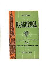 BLACKPOOL V ASTON VILLA  10/09/1966 DIVISION 1  (6)