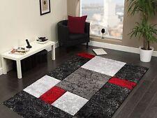 High Quality Modern Design Red Black Grey Heavy Rug in 4 sizes Carpet