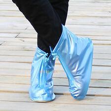 Reusable Rain Shoe Covers Waterproof Zipper Overshoes Boots Gear Anti-Slip