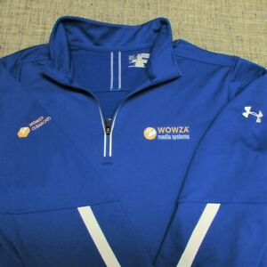 UNDER ARMOUR SOFT POLY POLY  1/4 ZIP GOLF PULLOVER--2XL-WOWZA MEDIA-LOOKS UNWORN