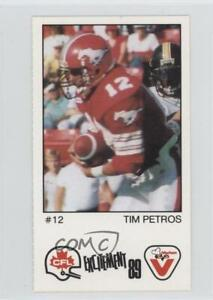 1989 Vachon CFL Pannel Singles Tim Petros #110