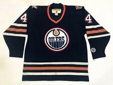 Vintage Koho Edmonton Oilers PRONGER #44 NHL Hockey Jersey Navy Adult XL Sewn