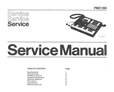 PHILIPS PMC100 Schematic Diagram Service Manual Schaltplan Techniques
