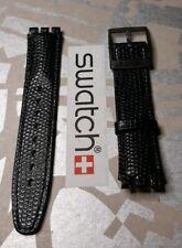 Swatch cinturino Chrono -Automatici -Scuba -originali ATTACCO17mm- PELLE Black