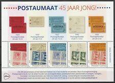 Vel 3678 persoonlijke zegels uitgifte 2018 45 jaar Postaumaat vel 1 pb's