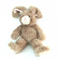 "Build A Bear Light Brown 17"" Plush Bunny with Posable Pink Ears And Bows"