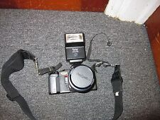 Pentax A3000 35mm SLR Film Camera with Vivitar Auto 30D Dedicated Flash