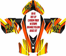 SKI DOO SNOWMOBILE WRAP REV,XP, XR,XS,XM MXZ  99-16 CARBON FIBER  STRIPE DECAL