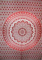 Red Indian 100% Cotton Mandala Tapestry Wall Hanging Psychedelic Bohemian Wall