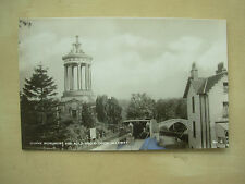 VINTAGE POSTCARD BURNS MONUMENT AND AULD BRIG O'DOON - ALLOWAY - SCOTLAND