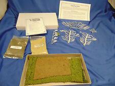 Woodland Scenics miniature hedge row 5 branch fine turf yellow grass bushes art