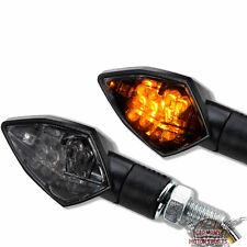 LED Mini Blinker Rock Race schwarz getönt Motorrad ATV Quad universal 20mm kurz