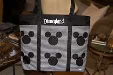 Disneyland Resort Mickey Mouse Large Black and White Tote Bag