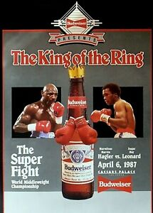 MARVIN HAGLER vs SUGAR RAY LEONSRD 8X10 PHOTO BOXING POSTER PICTURE KING OF RING