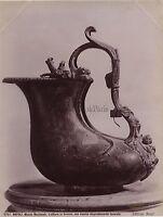 ITALIE Musée de Naples Lattiera Pot à lait en Bronze Vintage Albumine c1880