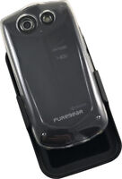 PUREGEAR CLEAR HARD CASE COVER + BELT CLIP HOLSTER FOR KYOCERA BRIGADIER E6782