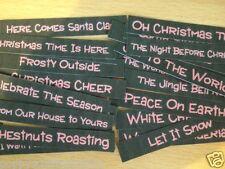 26 RED & BLACK CHRISTMAS SENTIMENT GREETING BANNER CARD MAKING EMBELLISHMENTS