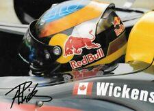 Robert Wickens SIGNED , Carlin Motorsports  Formula Renault 3.5  Portrait  2011
