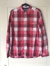 Ted Baker Mens Red Pink & White Jackdun Check Long Sleeve Shirt Sz 4 Large