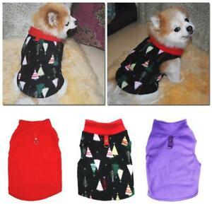 Pet Small Dog Fleece Harness Vest Jumper Sweater Coat Puppy-Shirt Jacket Apparel
