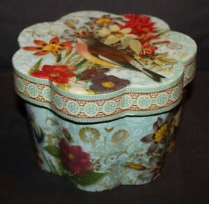Punch Studio DECORATIVE BOX Bird & Beautiful Flowers lot r