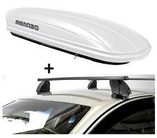 Dachbox VDPMAA320L weiß+Dachträger K1M für Fiat Tipo 4Türer ab 15