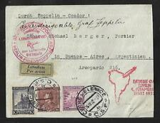 ZEPPELIN CZECHOSLOVAKIA TO ARGENTINA SAF.4 AIR MAIL COVER 1932