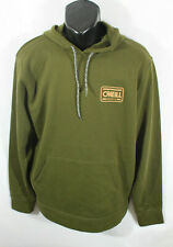 Oneill Mens Sweatshirt Hoodie Surf Spell Out Pullover Green Size L