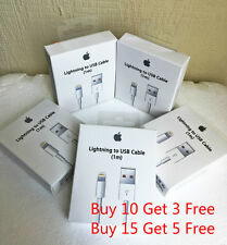 5X New iPhone 6 5s SE Lightning USB Data Cable Charger with box for APPLE