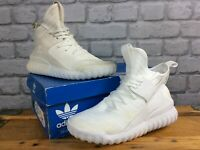 ADIDAS UK 5.5 EU 38 2/3 WHITE TUBULAR X PRIME KNIT TRAINERS BOYS YOUTH J