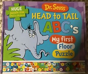Dr. Seuss Head to Tail ABCs Floor Puzzle - 12 pieces big