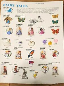 "JHB's ""FAIRY TALES"" - 1999 Salesman Sample Button Card"