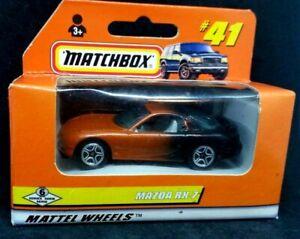 Matchbox Mattel Wheels Mzda RX 7 two tone paint on car  #41 Mint in box new 1997