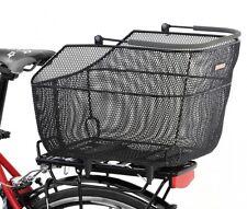 Pletscher Cesta de la bicicleta lujo XXL con sistema sujeción negro, Para Carro