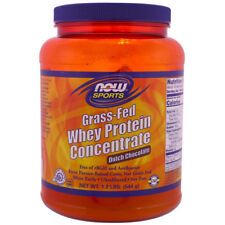 NOW Sports Grass-Fed Whey Protein Concentrate Powder Dutch Chocolate - 1.2 lb
