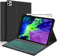 New iPad Pro 11 Keyboard Case 2020 2018,  7 Colors Backlit Detachable Keyboard