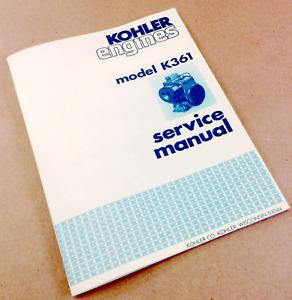 KOHLER ENGINES MODEL K361 SERVICE SHOP REPAIR MANUAL 18HP K361A REBUILD