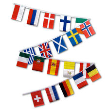 30ft String Flag Set of 20 European Country 12x18 Bunting Flag Banner Flags