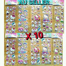 10 X HELLO KITTY puffy stickers for loot bags HELLO KITTY party supplies