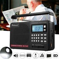 Digital FM AM SW Portable Radio 21 Bands Charge Receiver Speaker MP3 Player LED