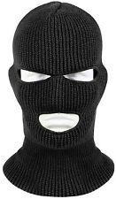 3 Hole Black Face Mask Ski Mask Winter Cap Balaclava Hood Army Tactical Mask