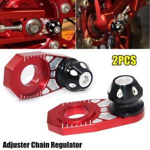 2PCS Motocross Motorcycle Bike Rear Hub Wheel Chain Regulator Antiskid Parking